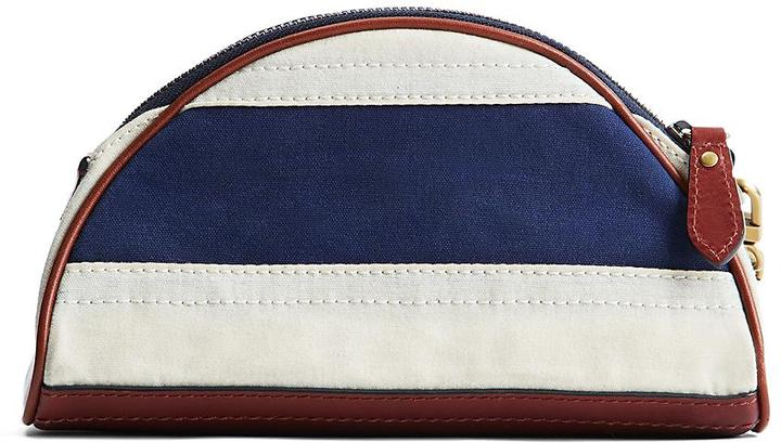 Brooks Brothers Waxed Cotton Canvas Wristlet