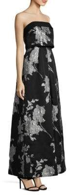 Laundry by Shelli Segal Floral Jacquard Ball Gown