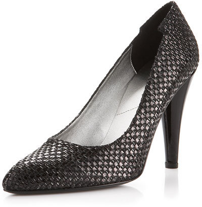 7 For All Mankind Wish Woven Raffia Pump, Black