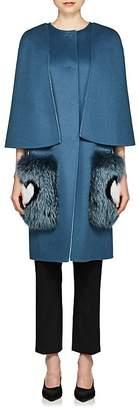 Fendi Women's Fur-Trimmed Wool Coat