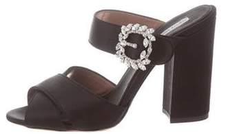 Tabitha Simmons Satin Slide Sandals