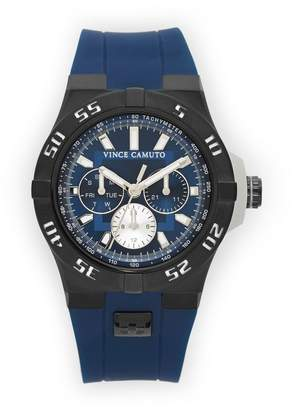 Vince Camuto The Master Navy & Black Silicone Watch