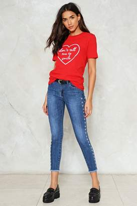 Nasty Gal Eyelets On the Prize Jeans