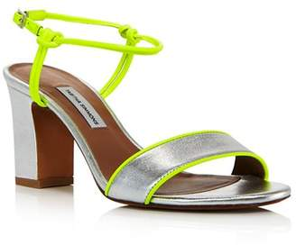 Tabitha Simmons Women's Bungee Neon & Metallic Block Heel Sandals