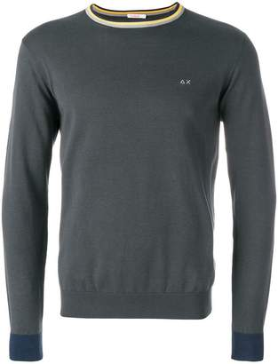 Sun 68 round elbow-patch sweatshirt
