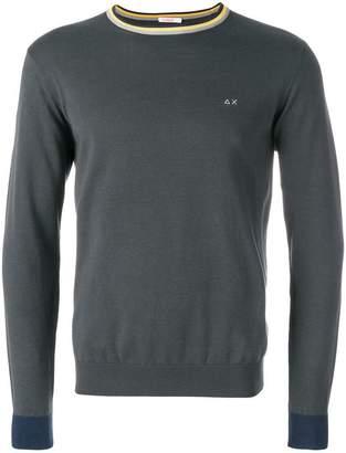 Sun 68 round elbow-patch sweatshirt