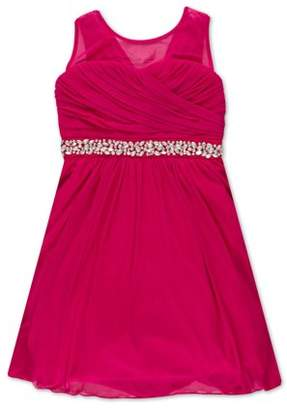 Lots of Love by Speechless Illusion Neck Jewel Waist Occasion Dress (Big Girls)