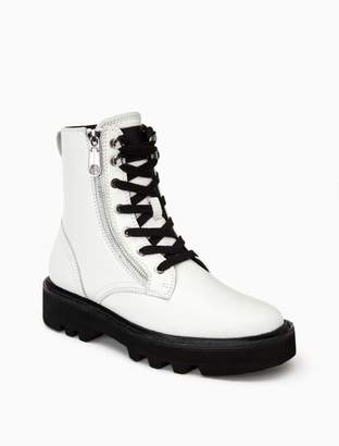 Calvin Klein diahne leather combat boot