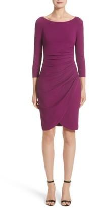 Women's Armani Collezioni Milano Jersey Petal Hem Dress $995 thestylecure.com