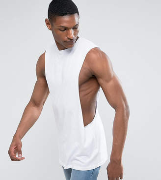 Asos DESIGN TALL Longline Sleeveless T-Shirt With Extreme Dropped Armhole