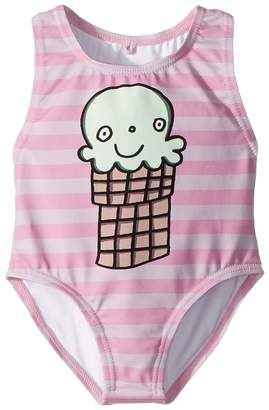 Stella McCartney Molly Striped Ice Cream Print Swimsuit Girl's Swimsuits One Piece
