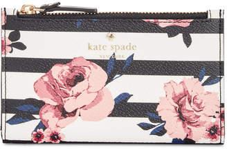 Kate Spade Hyde Lane Rose Striped Mikey Wallet