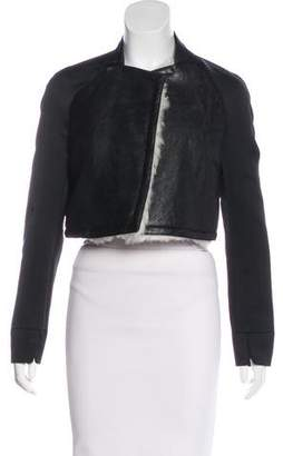 3.1 Phillip Lim Shearling Open Front Jacket