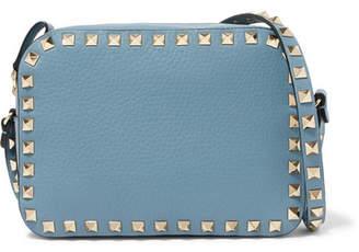 Valentino The Rockstud Textured-leather Shoulder Bag
