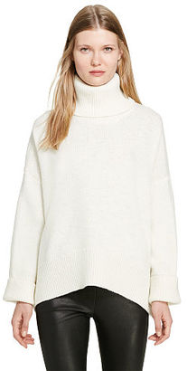 Polo Ralph Lauren Boxy Wool-Blend Turtleneck $298 thestylecure.com