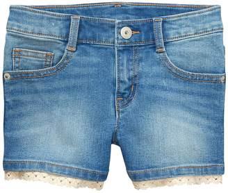Crazy 8 Crazy8 Lace Trim Denim Shorts