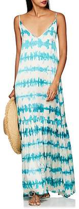Leone WE ARE Women's Elki Tie-Dyed Silk Maxi Dress - Blue