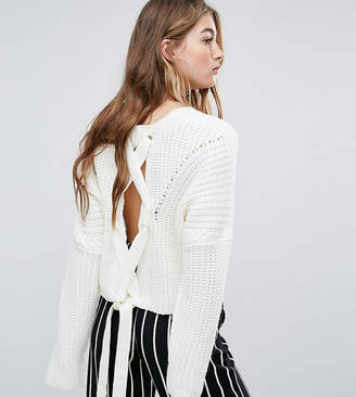 Missguided Lace Up Back Sweater