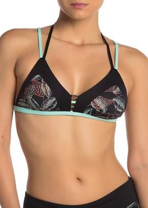 Maaji Panther Print Reversible Triangle Tie Bikini Top