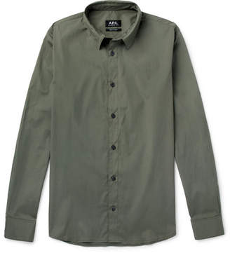 A.P.C. Andre Stretch-Cotton Poplin Shirt
