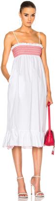 Lisa Marie Fernandez Smocked Slip Dress $525 thestylecure.com