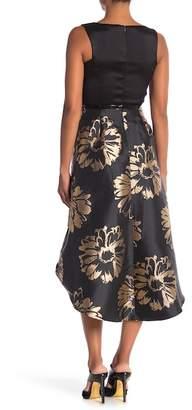 Donna Ricco Sleeveless Belted Twofer Dress