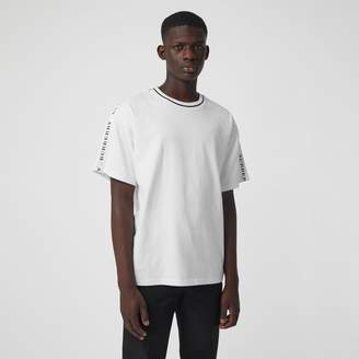 Burberry Tape Detail Cotton T-shirt