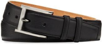 W.KLEINBERG W. Kleinberg Pebbled Bison Leather Belt