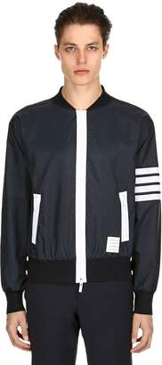 Thom Browne Zip-Up Lightweight Nylon Bomber Jacket