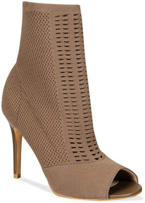 CHARLES by Charles David Rebellious Stretch Peep-Toe Booties $119 thestylecure.com