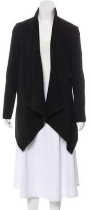 Joie Knit-Trimmed Knee-Length Coat