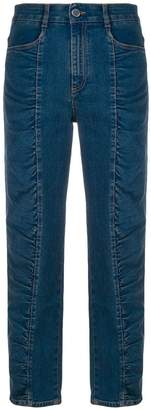 Stella McCartney ruched panel jeans