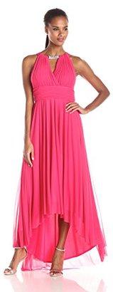 Jessica Howard Women's Shirred Surplus Bodice Dress with Hi-Low Skirt $118.99 thestylecure.com