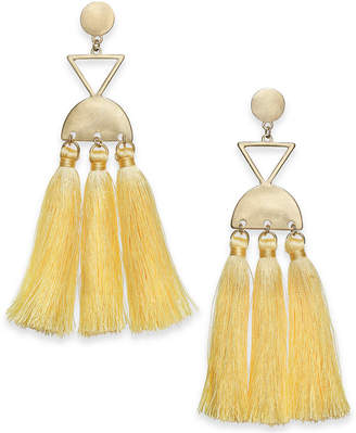 INC International Concepts I.N.C. Gold-Tone Multi-Tassel Chandelier Earrings, Created for Macy's