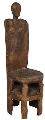 Tanzanian Carved Wood Chair