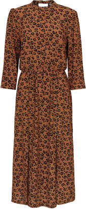 53fa91b0050 Oliver Bonas Natural Animal Print Tan Midi Dress