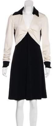 Diane von Furstenberg Twist Wool Knee-Length Dress w/ Tags