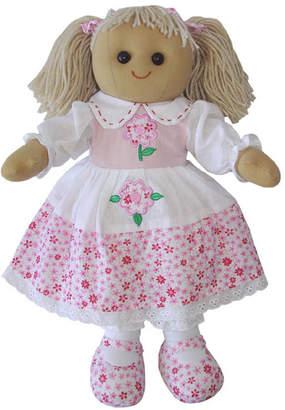 Little Ella James Blonde Daisy Print Rag Doll