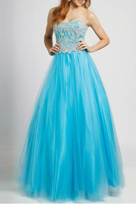 Jovani Strapless Ball Gown $399 thestylecure.com