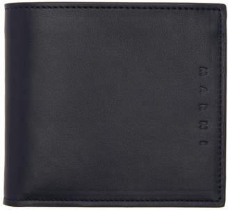 Marni Navy Colorblocked Wallet