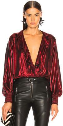 retrofete Fiona Bodysuit in Red | FWRD