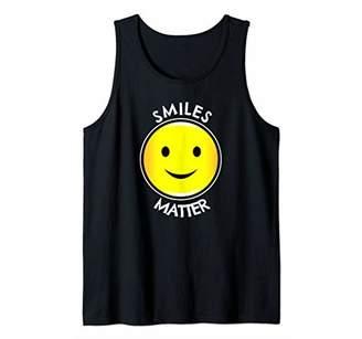 FUN HUMOROUS SMILES MATTER NATIONAL SMILE DAY GIFT Tank Top