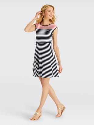Draper James Stripe Ponte A-Line Dress