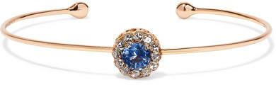 Selim Mouzannar - 18-karat Rose Gold, Sapphire And Diamond Cuff