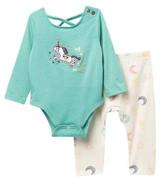 Jessica Simpson Bodysuit & Leggings Set (Baby Girls)