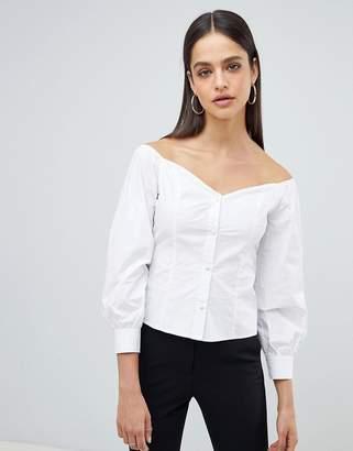 Fashion Union Bardot Fitted Shirt