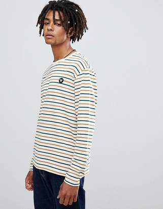Wood Wood Mel multi colour striped long sleeve t-shirt