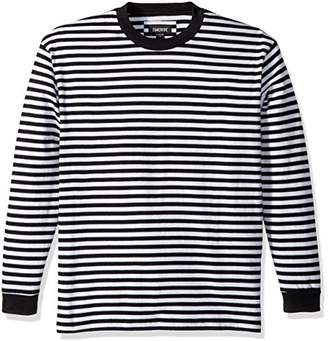 Zanerobe Men's Cotton Heavy-Weight Stripe Long Sleeve Box Tee