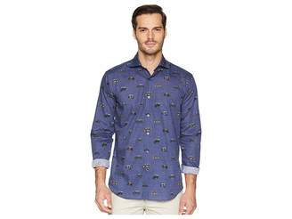 Bugatchi Long Sleeve Shaped Fit Woven Shirt