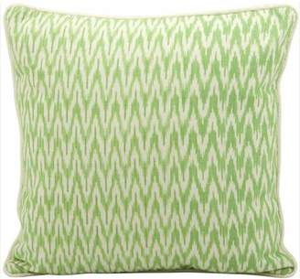 "Nourison Generic Life Styles Ikat Decorative Pillow, Green, 18"" x 18"""